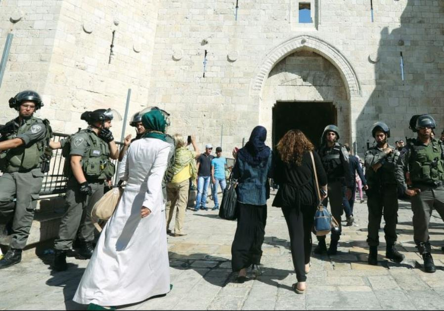 PALESTINIAN WOMEN visit Jerusalem on the eve of Ramadan