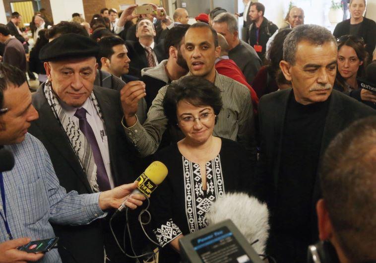 KNESSET MEMBER Haneen Zoabi speaking with the press last year