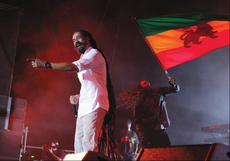 REGGAE MUSICIAN Damian Marley carries on the family tradition as he performs in Rishon Lezion