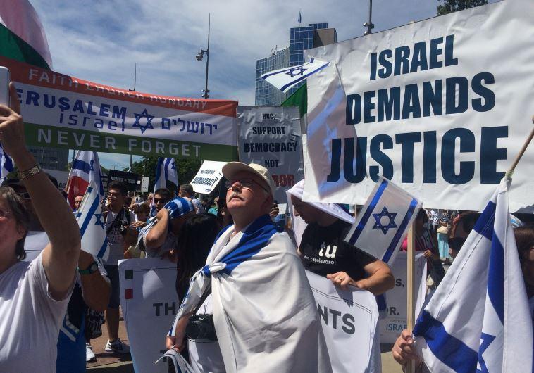 Pro Israel protest in Geneva