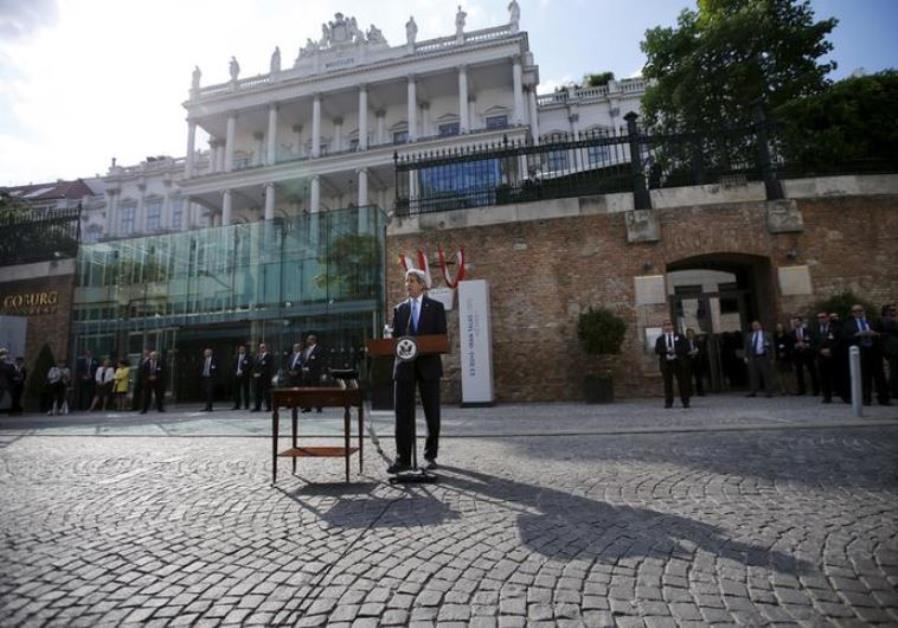 Kerry speaking in Vienna, July 1, 2015