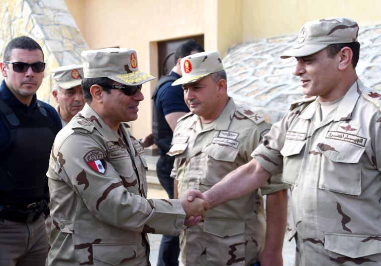 Al-Sisi in uniform making trip to Sinai
