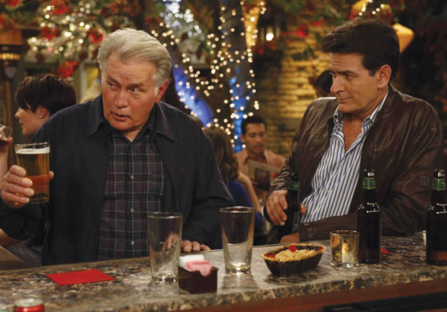 Actor Charlie Sheen' real-life father, actor Martin Sheen,