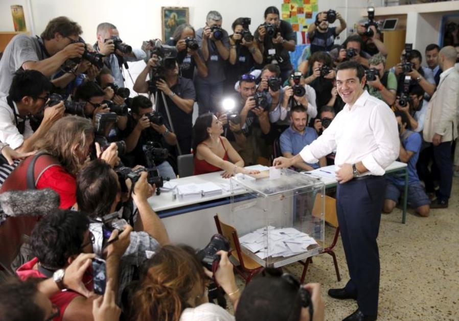 Greek Prime Minister votes