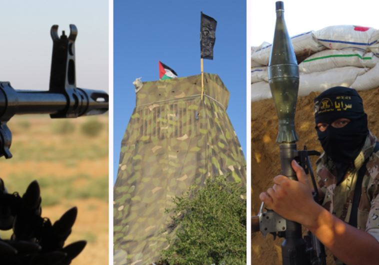 Al-Quds Brigade builds watch tower directly across IDF structure on Gaza border