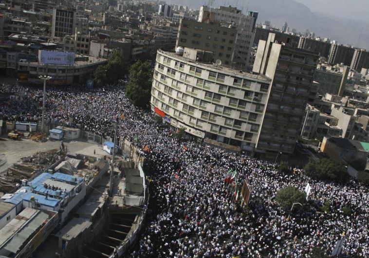 Aerial view of Tehran