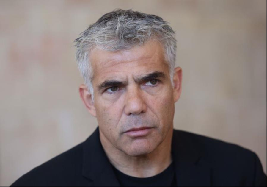 Yesh Atid chairman Yair Lapid at the Knesset