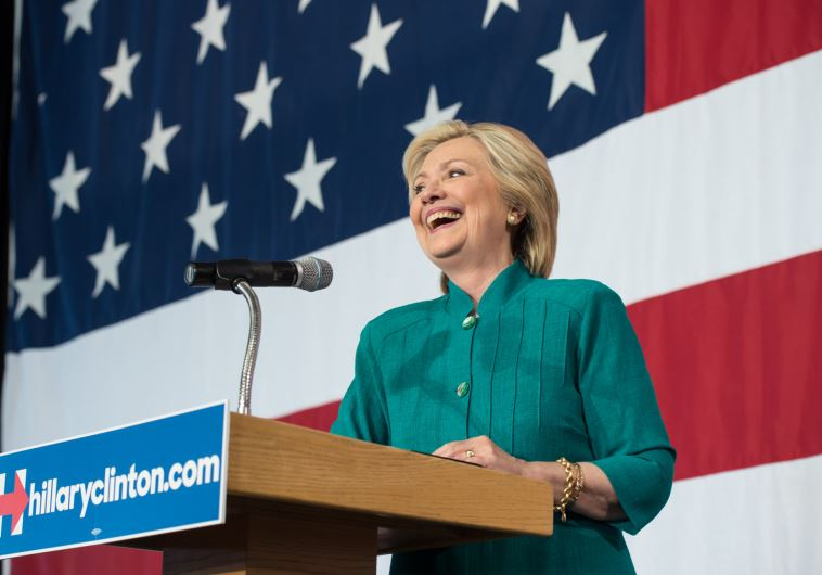 Hillary Clinton at a campaign event in Des Moines, Iowa