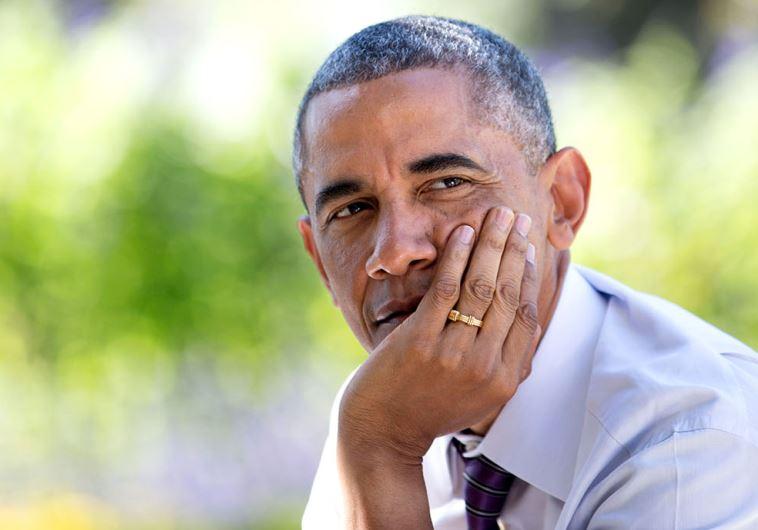 US President Barack Obama at the Rose Garden of the White House