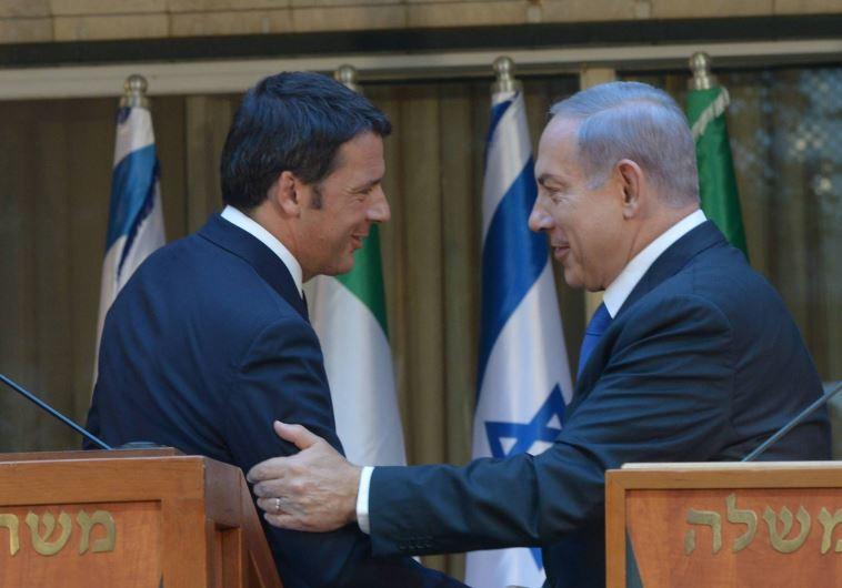 Benjamin Netanyahu and Matteo Renzi
