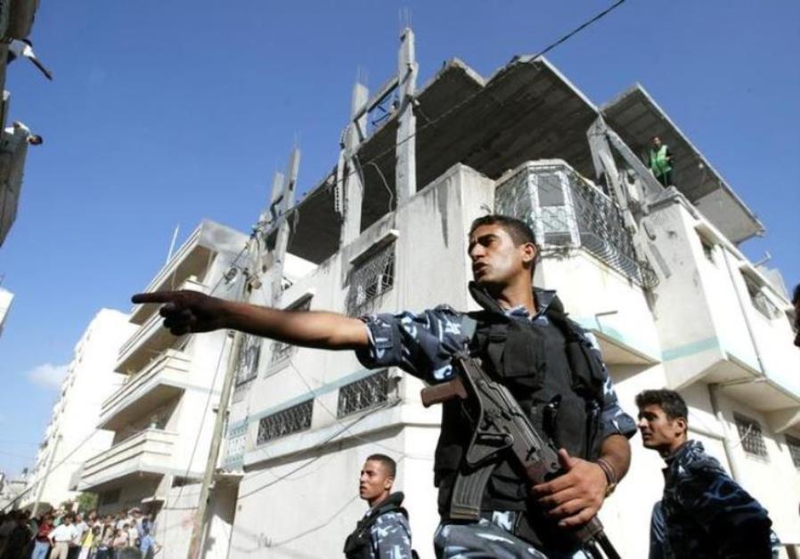 Palestinian policeman