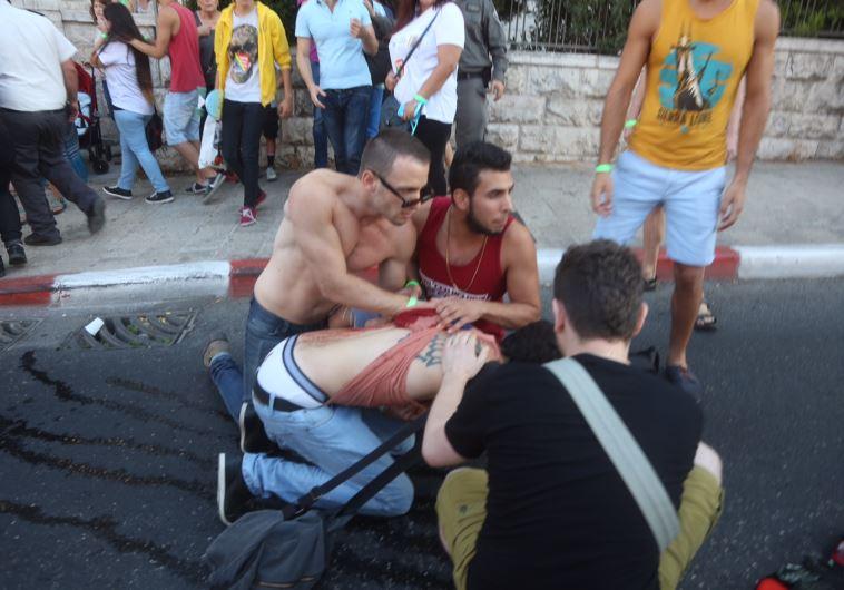 Stabbing at J'lem gay-pride parade