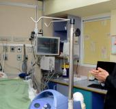 President Reuven Rivlin at the bedside of Ahmed Dawabsha, 4, at Sheba Medical Center in Tel Hashomer