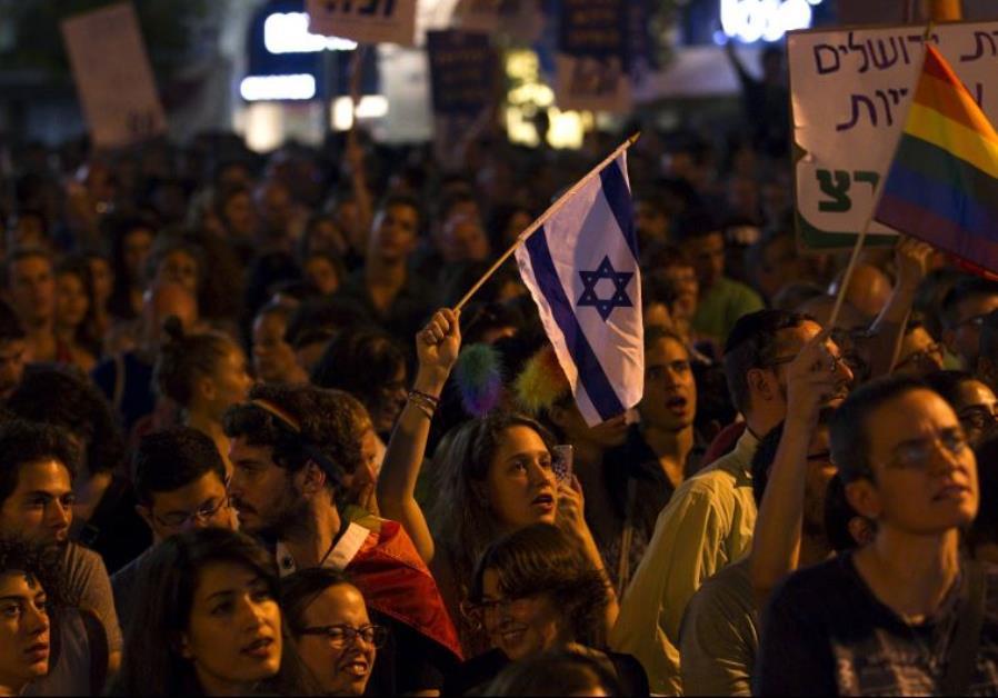 Anti violence rally in Tel Aviv