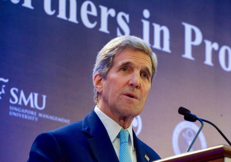 US Secretary of State John Kerry speaks in Singapore