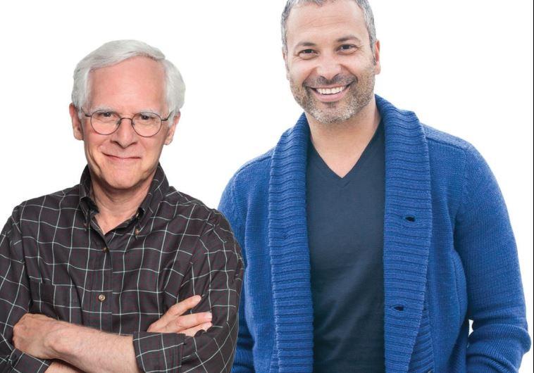 Rabbi Bob Alper (left) seen here with comedic partner Ahmed Ahmed.