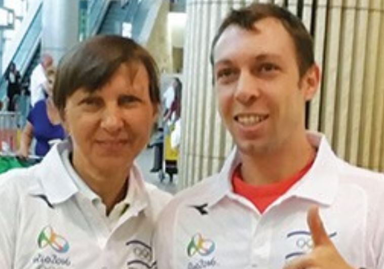 Israeli badminton player Misha Zilberman, along with his mother and coach Svetlana