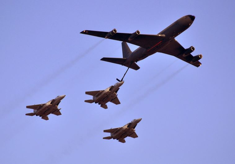 Report: Israeli fuel tankers escorted Jordanian fighter jets en route to US