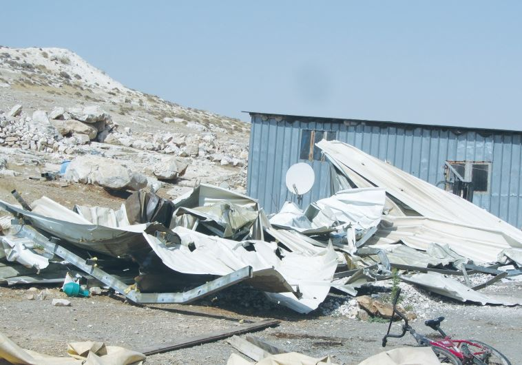 THE REMAINS left after the IDF demolished shacks belonging to Beduin living near Ma'aleh Adumim