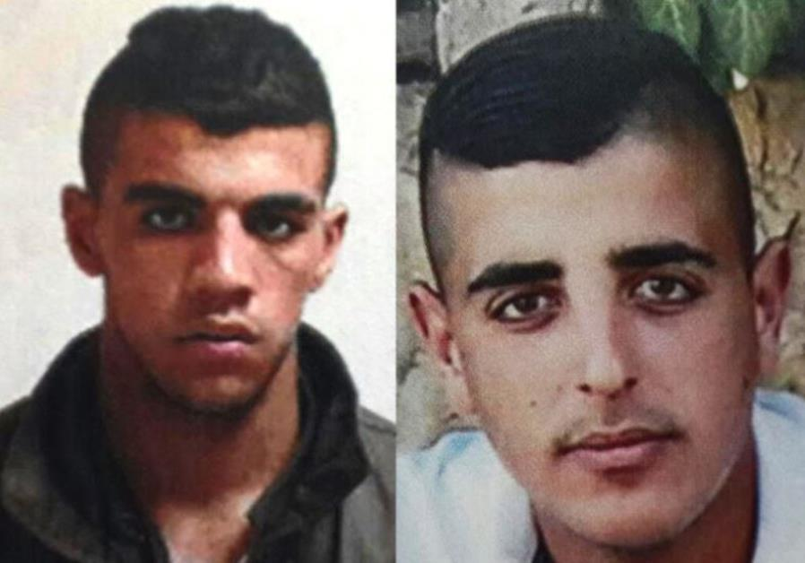 Mohammad Hussam Said Kirash and Wassim Mohammed Salah, two of the suspects arrested by the Shin Bet