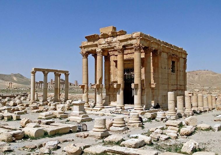 Temple of Baal Shamin in Palmyra before its destruction in August 2015.