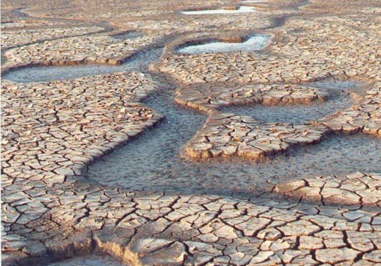 Schlammspalten in trockener Wüste