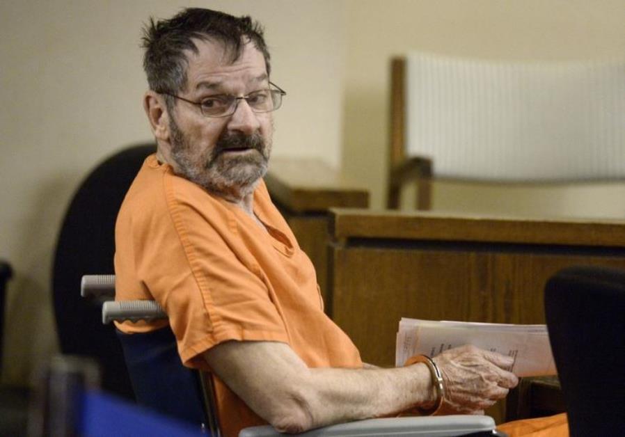 Frazier Glenn Cross Jr, also known as Glenn Miller, sits in a courtroom in Olathe, Kansas