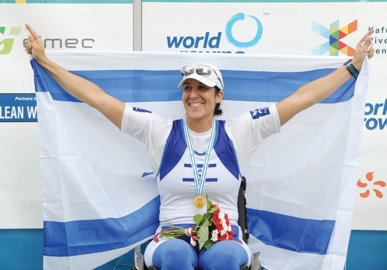 Moran Samuel claimed the gold medal in the arms-shoulders single scull 1,000-meter fin