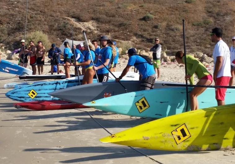 SUP championship at Nahsholim Beach