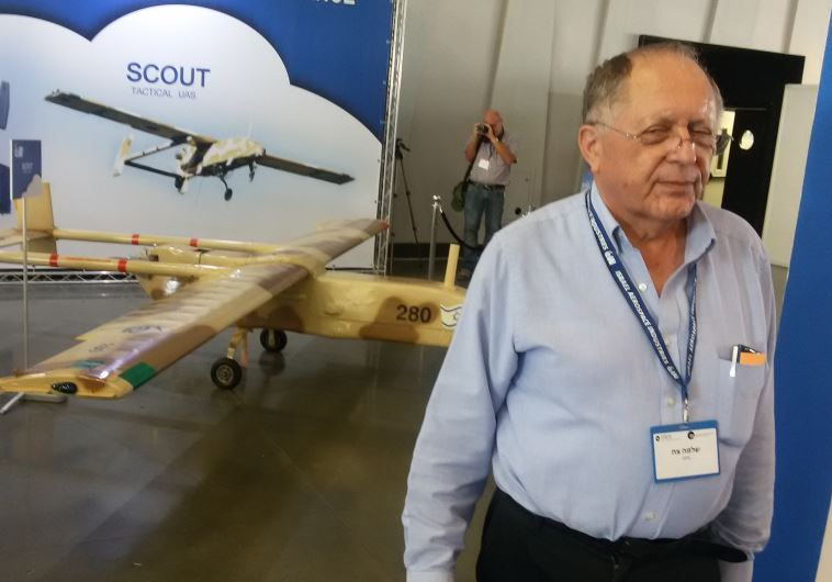 APG Director stands next to the IAI-made Scout drone, developed in the 1970s.