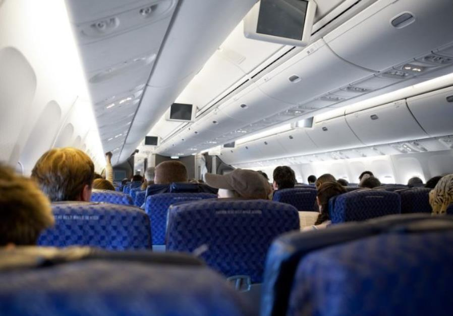 Interior of a passenger airplane