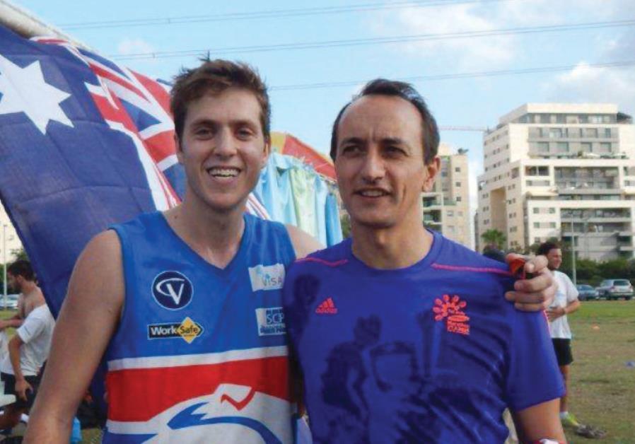 YONATAN BELIK (left) with Australian Ambassador Dave Sharma.