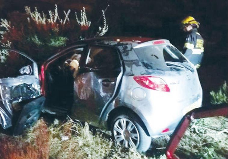 Police investigating if Jerusalem crash death caused by rock attack