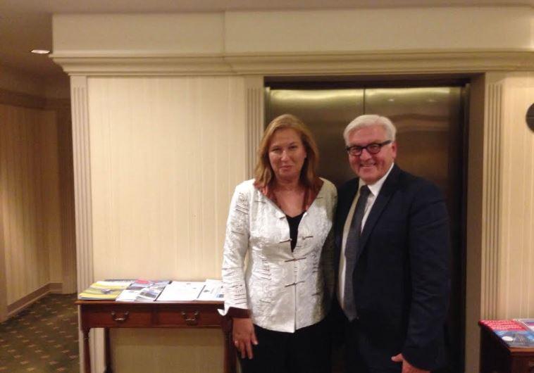Livni and Steinmeier in Berlin, September 16