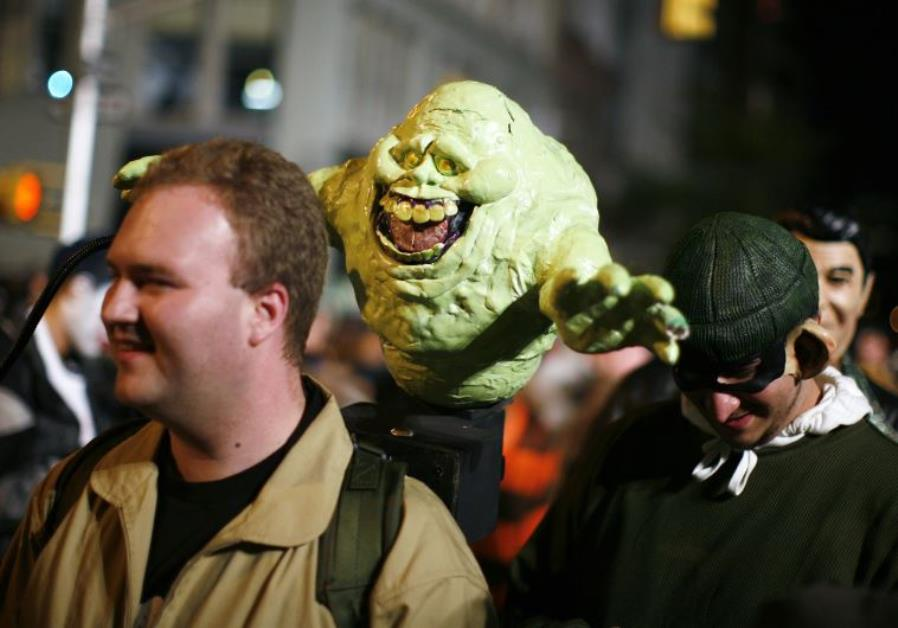 """A participant dressed as a character from the show """"Ghostbusters"""""""