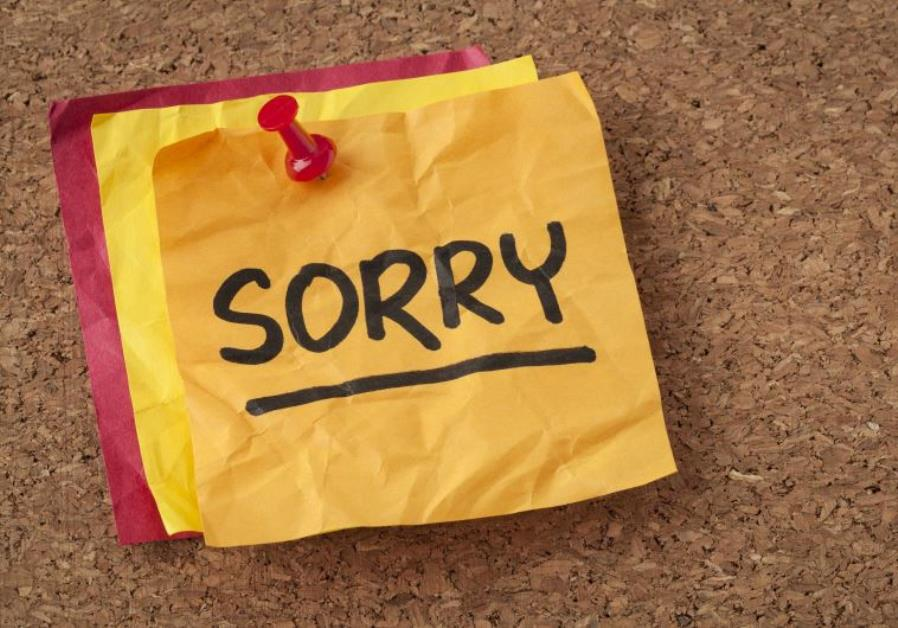 A sorry note