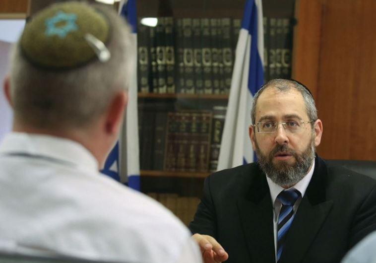 Ashkenazi Chief Rabbi David Lau speaks to The Jerusalem Post (Marc Israel Sellem/The Jerusalem Post)