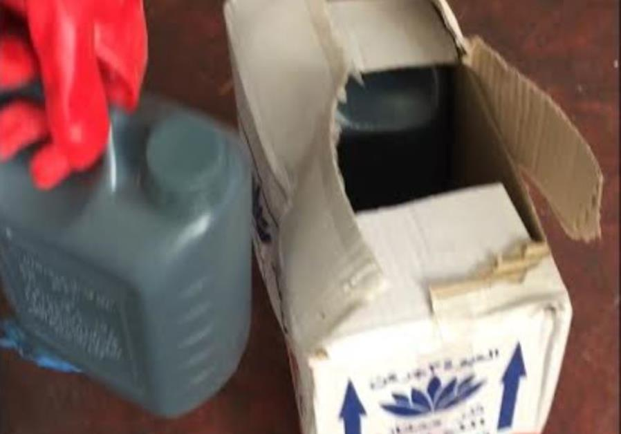 Intercepted shipment of sulfuric acid