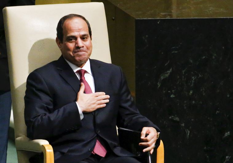 Egypt's President Abdel Fattah al-Sisi after addressing the 70th session of the UNGA, September 28,
