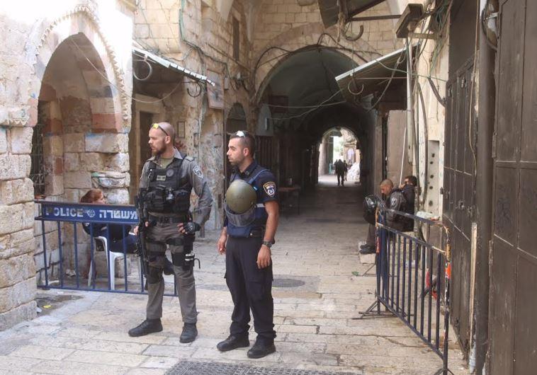 Police and Border Police in Jerusalem's Old City (file)