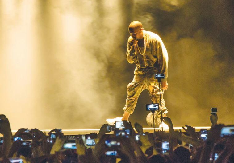Kanye West performs at Ramat Gan Stadium