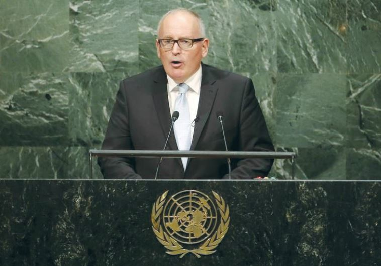 FRANS TIMMERMANS, first vice president of the European Commission, addresses the UN Sustainable Deve