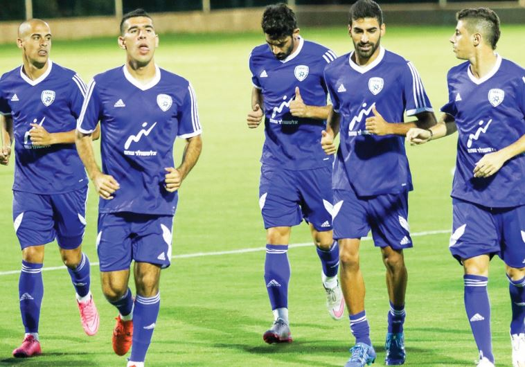 The Israel national squad was in an upbeat mood yesterday at the Shefayim training complex as it beg