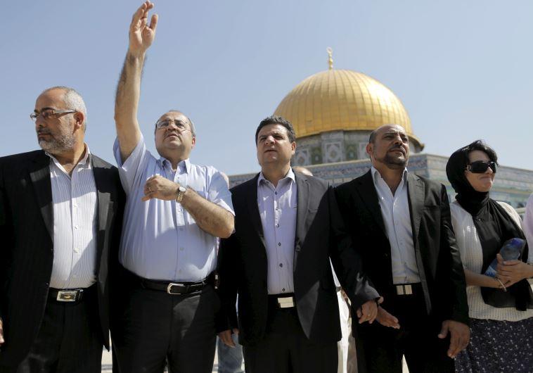 Osama Saadi, Ahmed Tibi, Ayman Odeh, Masud Ganaim and Haneen Zoabi