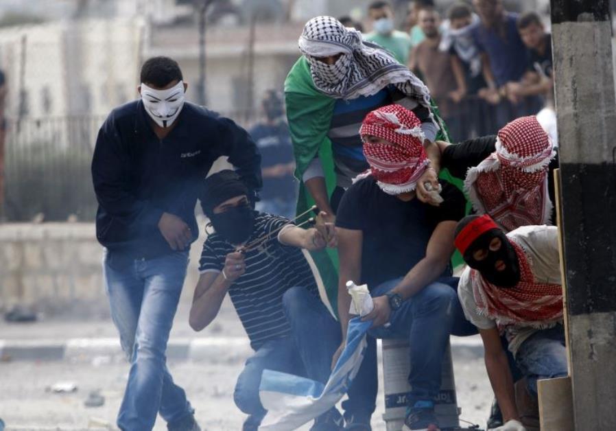 Palestinian rock-throwers