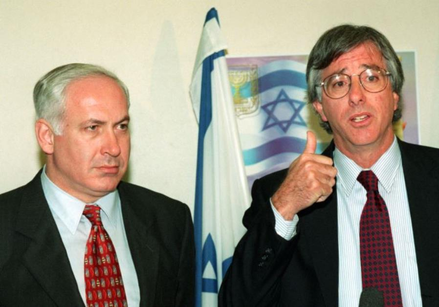 United States special envoy Dennis Ross (R) and Prime Minister Benjamin Netanyahu meet in Jerusalem