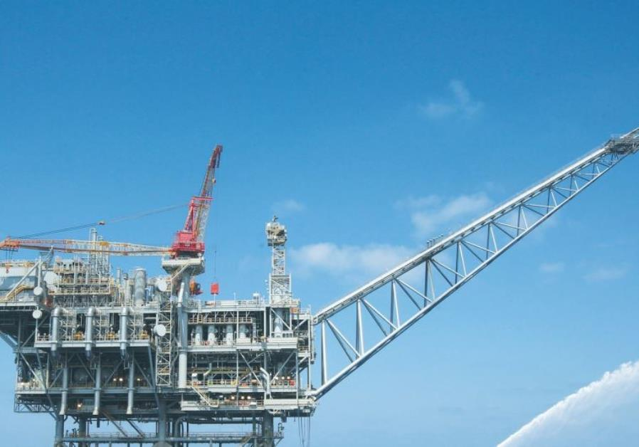 THE TAMAR gas field platform juts above the Mediterranean
