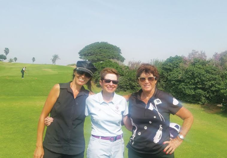 2015 Ga'ash Women's Club Championships (from left) Nikita Ben-Ami, Norma Kaufman and Ophra Dagan.