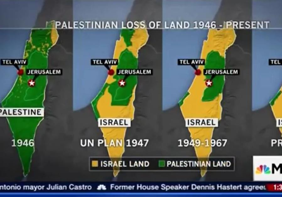 Msnbc slammed for error riddled map in segment on israels borders msnbc slammed for error riddled map in segment on israels borders middle east jerusalem post gumiabroncs Choice Image