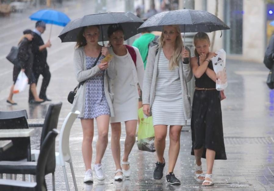 Rain in Jerusalem